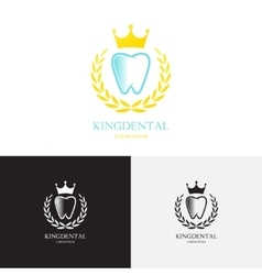 Template of logo of dental clinic vector image vector image