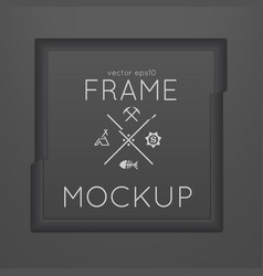 Template of square slashed frame vector