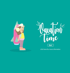 Vacation timetravel and adventure concept vector