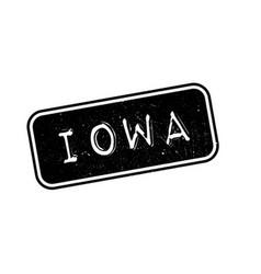 Iowa rubber stamp vector image