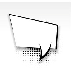 comic empty paper babble soft shadow square vector image
