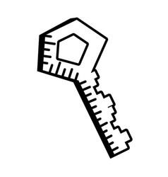 Key door lock outline vector
