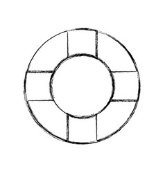 Figure lifebelt symbol to maritime rescue and vector