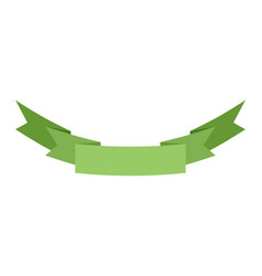 Ribbon isolated template green decorative tape vector