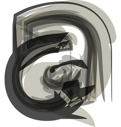 Abstract letter a vector
