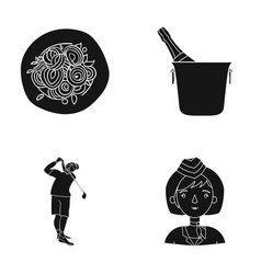 Hair restaurant sport and other web icon in vector