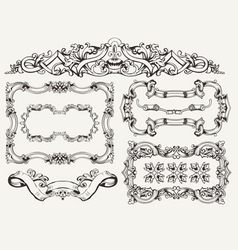 High ornate frames vector