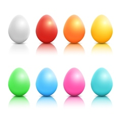 Colorful realistic easter eggs set vector