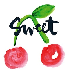 Sweet cherry print for shirts vector