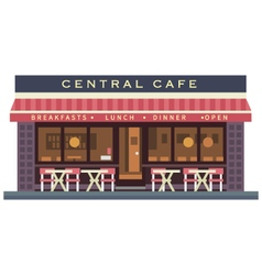 Central cafe building vector