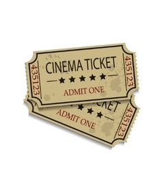 Old vintage paper tickets vector