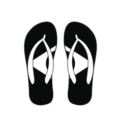 Brazilian flip flops icon simple style vector