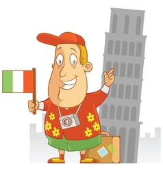Tourist travel italy vector