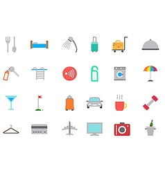 Hotel service icons set vector