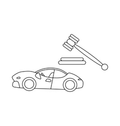 Auction cars icon outline style vector