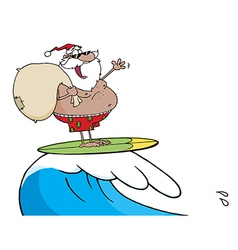 African American Santa Carrying vector image vector image