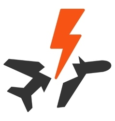 Aircraft disaster icon vector