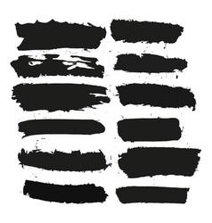 Black brushstroke set3 vector