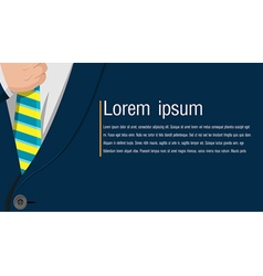 Business Blue Suit Background Style vector image