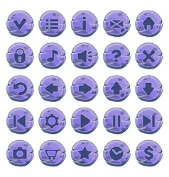 Buttons round purple vector image