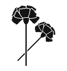 Carnation icon simple style vector