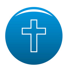 Catholic cross icon blue vector