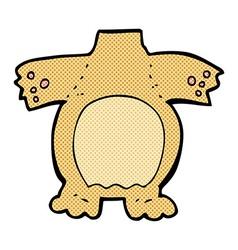 Comic cartoon teddy bear body mix and match comic vector