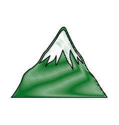 Drawing mount fuji japan landscape natural image vector