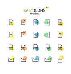 easy icons 15d papers vector image vector image