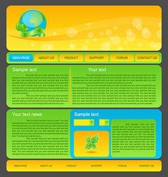 Eco nature environmental web template vector image