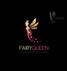Fairy queen logo vector image