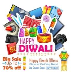 Festive shopping offer for diwali holiday vector