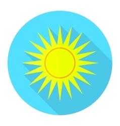 Flat sun icon 1 vector