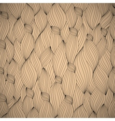 hand-drawn pattern waves background vector image vector image