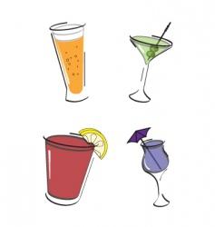 have a drink icon set vector image