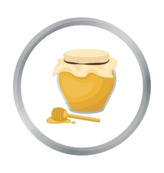 Honey icon in cartoon style isolated on white vector image