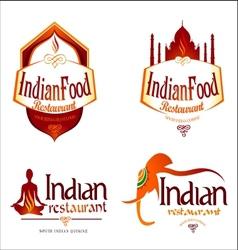 Indian food logo creative vector