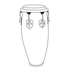 Isolated conga drum outline vector