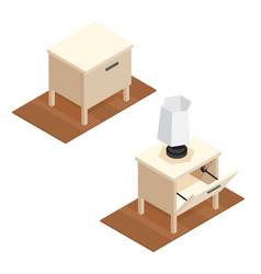 Isometric nightstand vector