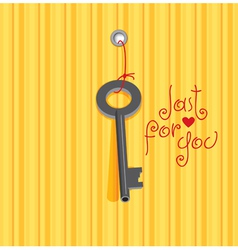 key heart vector image