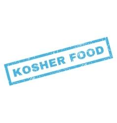 Kosher food rubber stamp vector