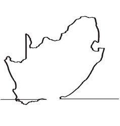 map of south africa continous line vector image vector image