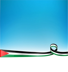 PALESTINE FLAG background vector image vector image