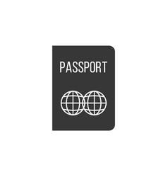 passport icon silhouette design vector image vector image