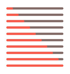 progress bar set loading status bar web vector image