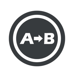 Round black a b sign vector