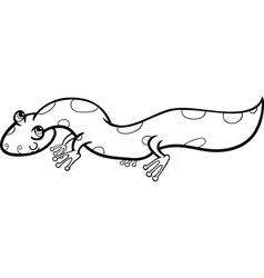 Salamander cartoon coloring page vector
