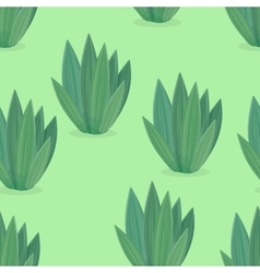Seamless Pattern of Flower Icons in Flat Design vector image vector image