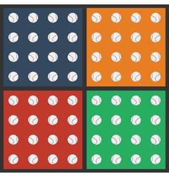Seamless pattern with baseball balls vector image