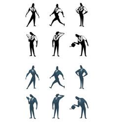 six businessman set vector image vector image